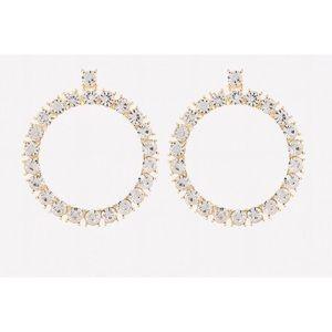 Bebe glam crystal hoop earring